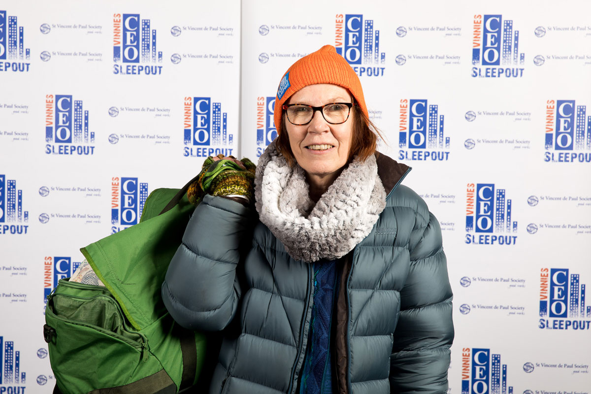 Braving the cold for Vinnie's CEO Sleepout